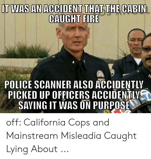 T WAS AN ACCIDENT THATTHE CABIN CAUGHT FIRE POLICE SCANNER ALSO