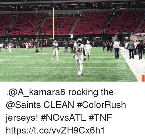 info for f2253 60e68 T17 120 121 Rocking the CLEAN #ColorRush Jerseys! #NOvsATL ...