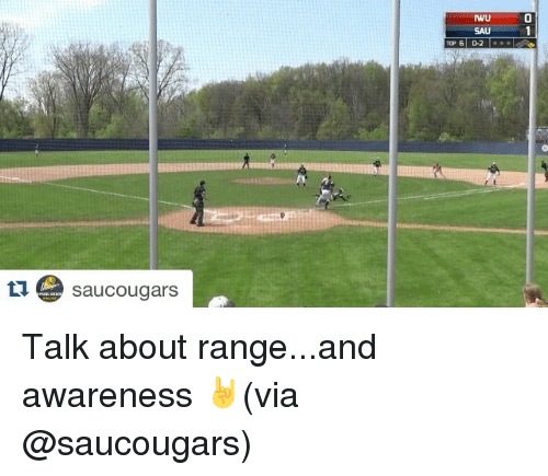Sports, Talking, and Cougaring: ta e sau Cougars  NU  Top 6 D-2 Talk about range...and awareness 🤘(via @saucougars)