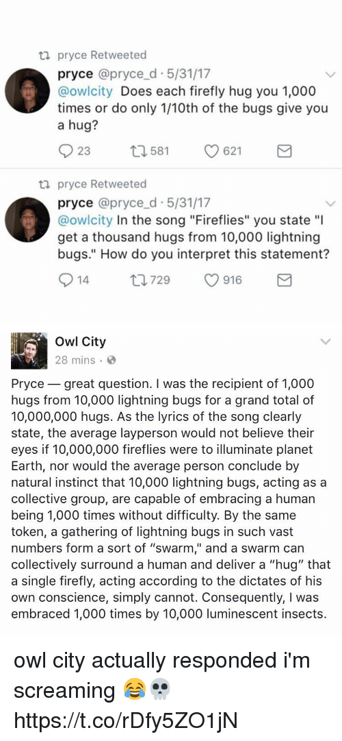 ta pryce retweeted pryce pryce d 5 31 17 owlcity does each 23691431 ✅ 25 best memes about firefly firefly memes
