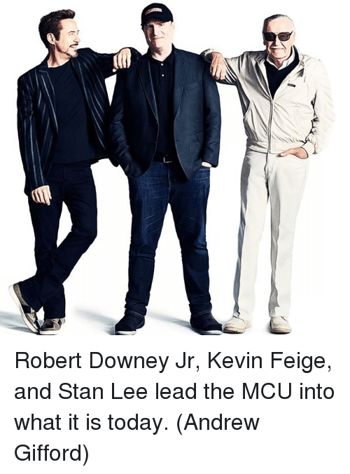 Memes, Robert Downey Jr., and Stan: ta Robert Downey Jr, Kevin Feige, and Stan Lee lead the MCU into what it is today.  (Andrew Gifford)