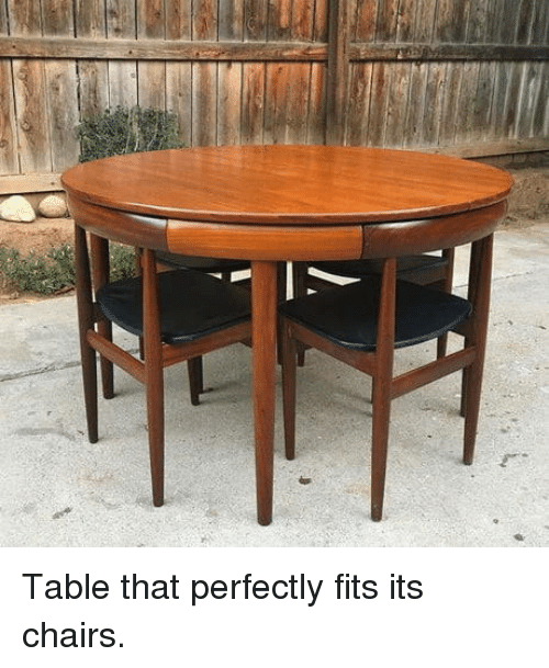 Table, Chairs, and That: Table that perfectly fits its chairs.