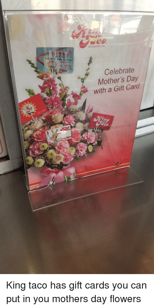 Funny, Mother's Day, and Flowers: TACO AL PASTOR CARD GIFT RESTAURANTS, INC