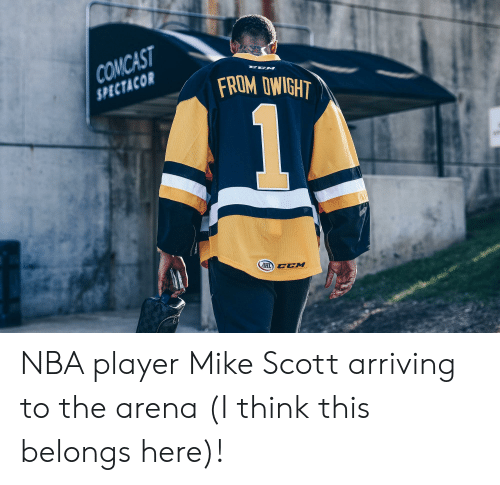 Nba, The Office, and Player: TACO FROM DWIGHT  CCM NBA player Mike Scott arriving to the arena (I think this belongs here)!