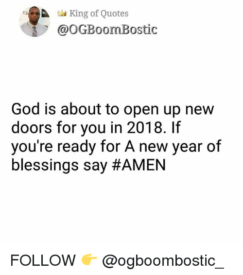 Tad King of Quotes God Is About to Open Up New Doors for You in 2018 ...