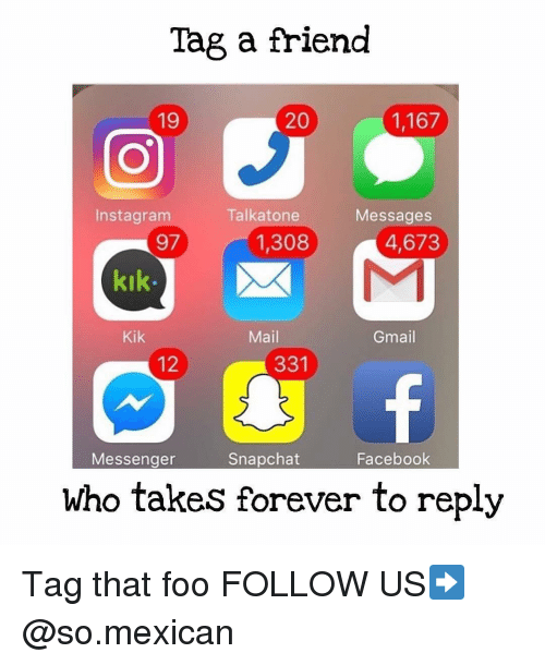 Tag a Friend 20 1167 19 Instagram Talk Atone Messages 97 4673 1308