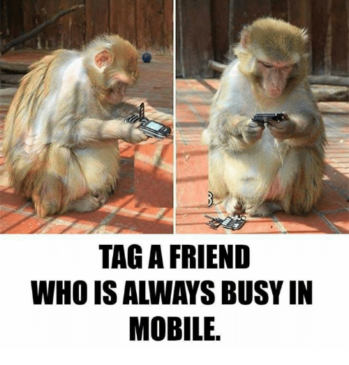 Memes, Mobile, and 🤖: TAG A FRIEND  WHO IS ALWAYS BUSY IN  MOBILE.