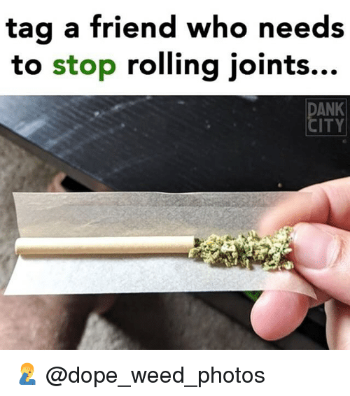 Dope, Memes, and Weed: tag a friend who needs  to stop rolling joints...  ANK  ITY 🤦‍♂️ @dope_weed_photos