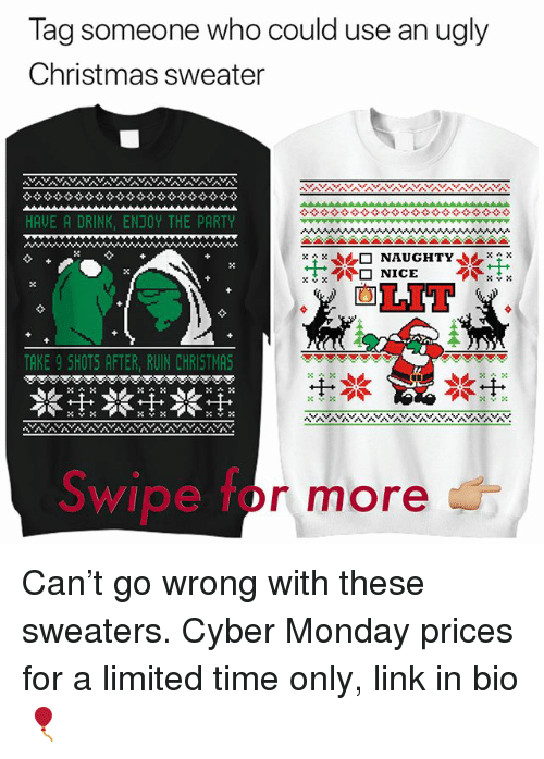 christmas funny and lit tag someone who could use an ugly christmas sweater