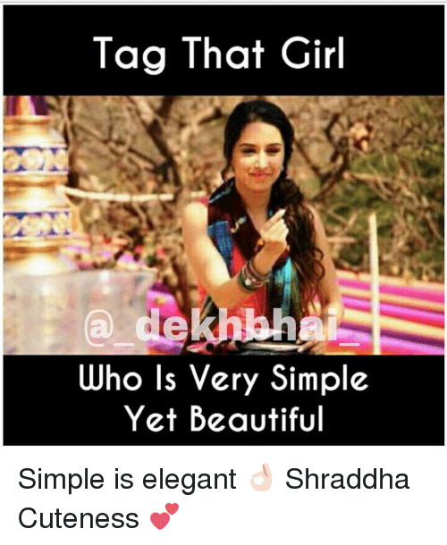very simple girl