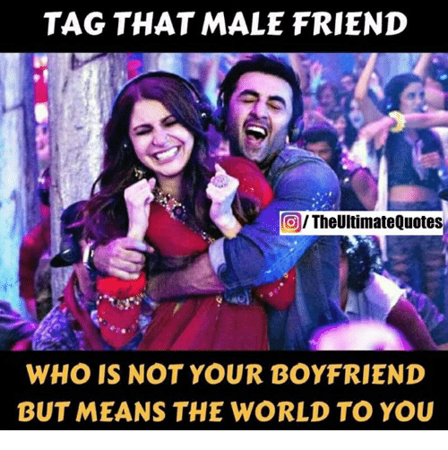 Quotes About Male Friendship Gorgeous Tag That Male Friend Theultimate Quotes Who Is Not Your Boyfriend