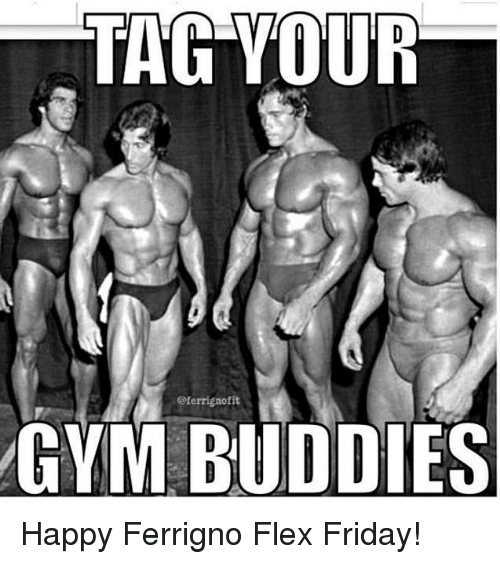 Muscle gym buddies