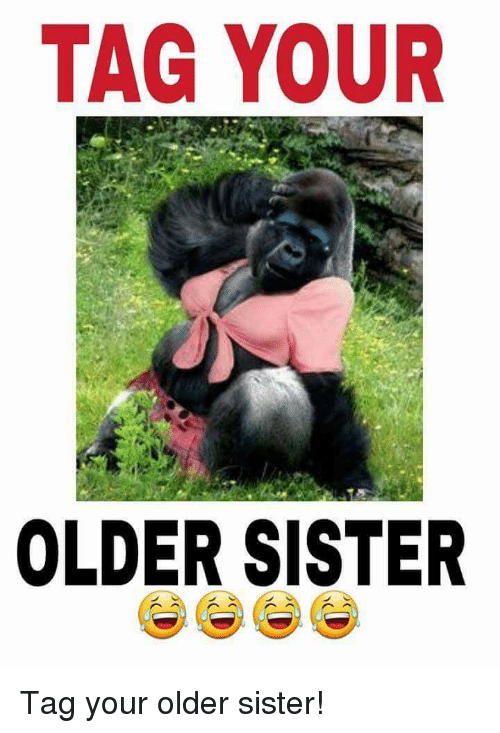 Funny Memes For Your Sister : Tag your older sister