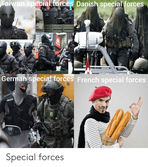 Taiwan Special Iorces Danish Special Forces Erman Special