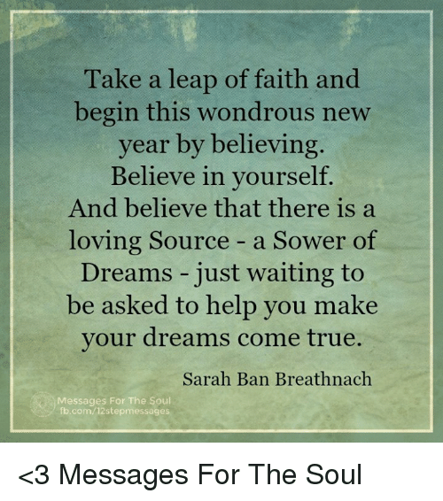 memes and sarah ban breathnach take a leap of faith and begin