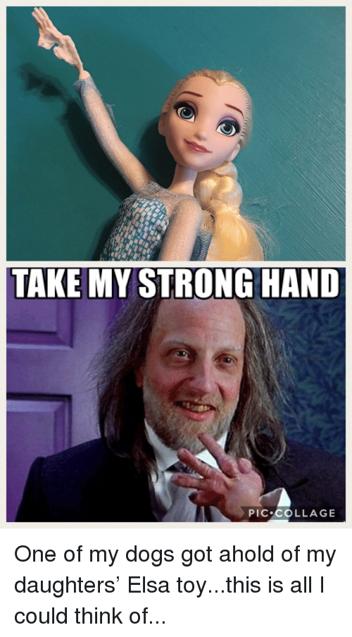 Dogs, Elsa, and Funny: TAKE MY STRONG HAND  PIC COLLAGE