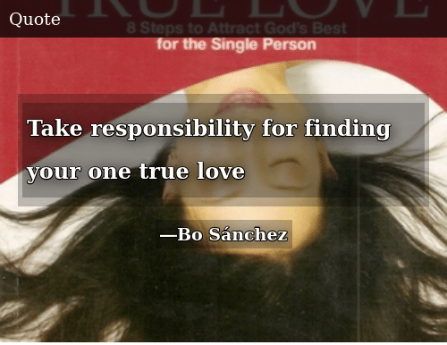 How to find your true love by bo sanchez