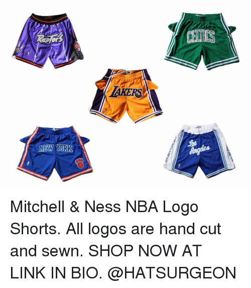 6ca1ff74 TAKERS Mitchell & Ness NBA Logo Shorts All Logos Are Hand Cut and ...