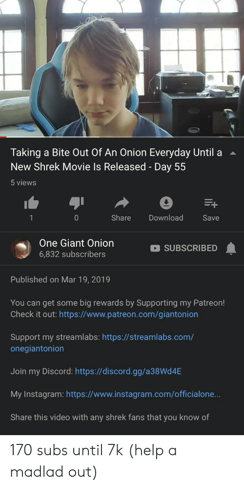 Taking a Bite Out of an Onion Everyday Until a New Shrek Movie Is