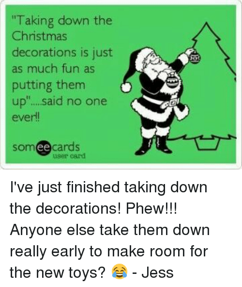 Taking Down Christmas Decorations