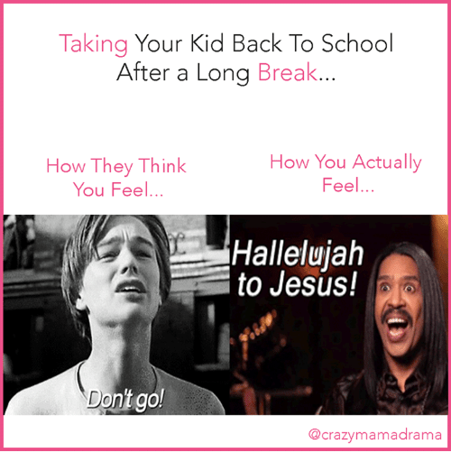 Hallelujah, Memes, and Back to School: Taking Your Kid Back To School After
