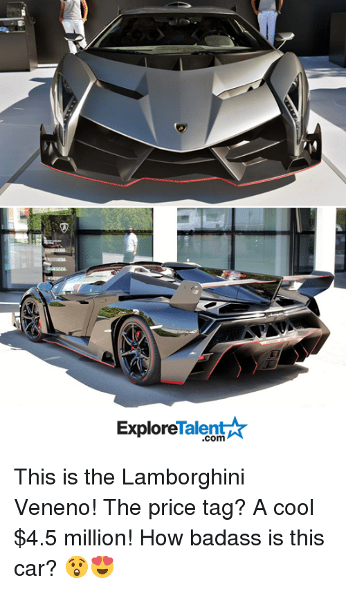 Talent Ar Explore This Is The Lamborghini Veneno The Price Tag A