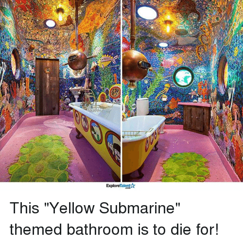 Yellow Submarine Themed Bathroom