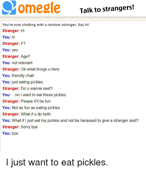 Talk to Strangers! You're Now Chatting With a Random