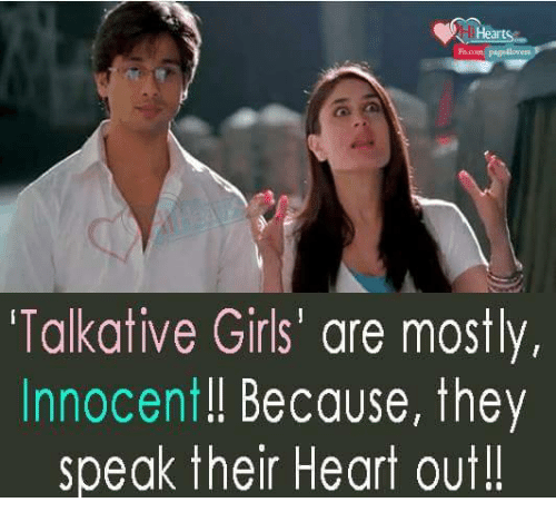 Talkative girls