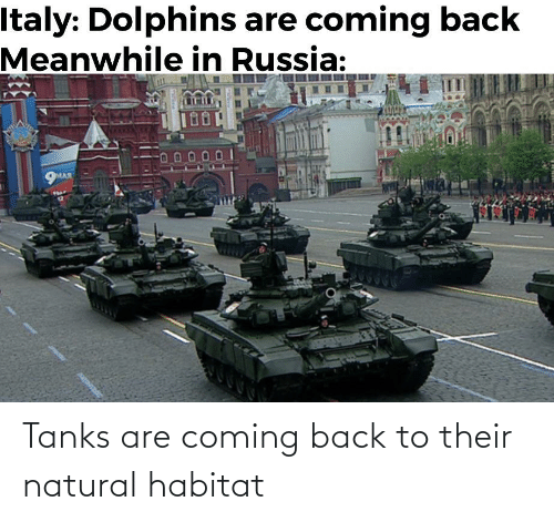 Back, Tanks, and Habitat: Tanks are coming back to their natural habitat