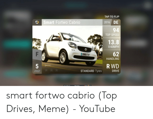 TAP TO FLIP Smart Fortwo Cabrio DE 2016 94 TOP SPEED 138 0