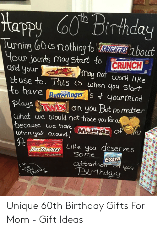 Birthday Butterfinger And Mom Tapy Irthday Urning O0is Nothing To Hour Jounts May Unique 60th Gifts