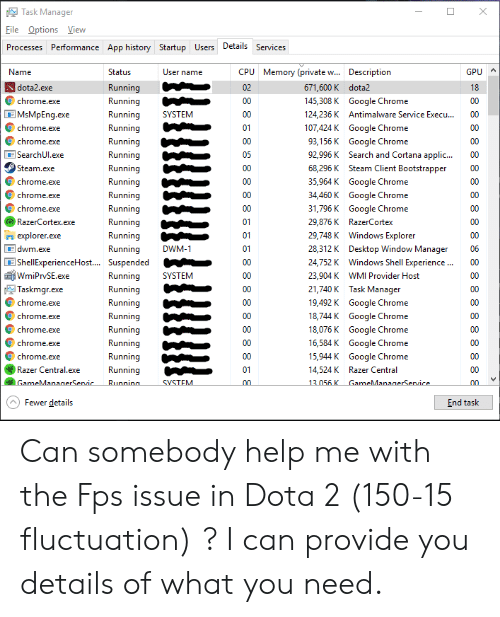Task Manager File Options View Performance App History