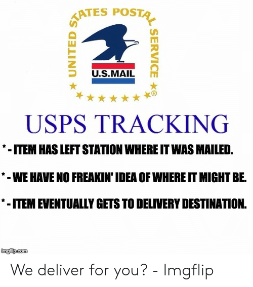TATES POSTA USMAIL USPS TRACKING ITEM HAS LEFT STATION WHERE IT WAS