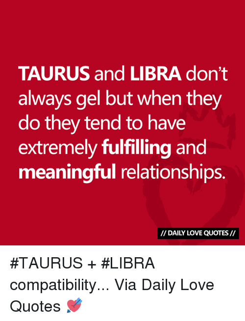 Taurus and libra love connection