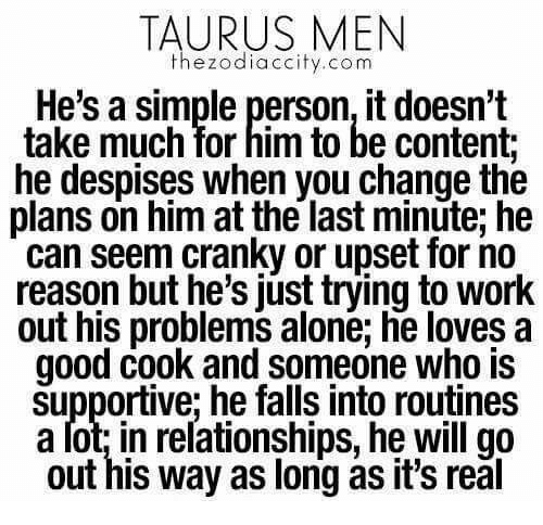 Taurus men in serious relationships