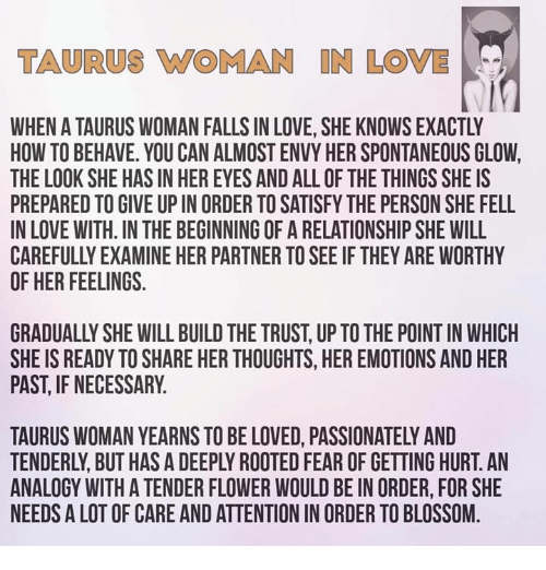 How to know if a taurus woman loves you