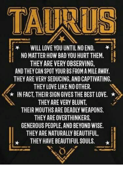 How to spot a taurus