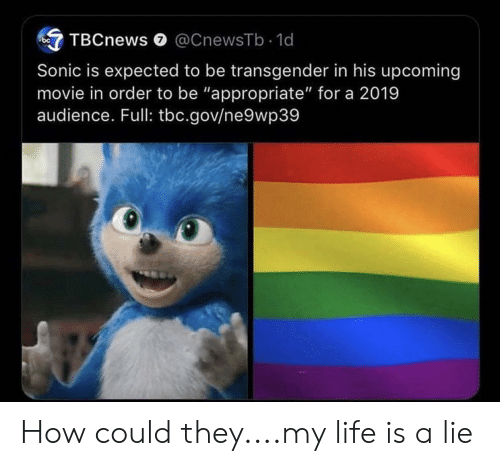 TBCnews 0 Sonic Is Expected to Be Transgender in His Upcoming Movie