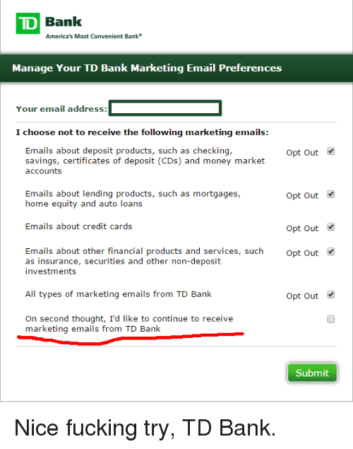 TD Bank Convenient Bank America\'s Most Manage Your TD Bank Marketing ...