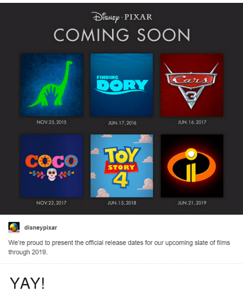 CoCo Disney And Memes TDISNEp PIXAR COMING SOON FINDING DOORLY JUN 16