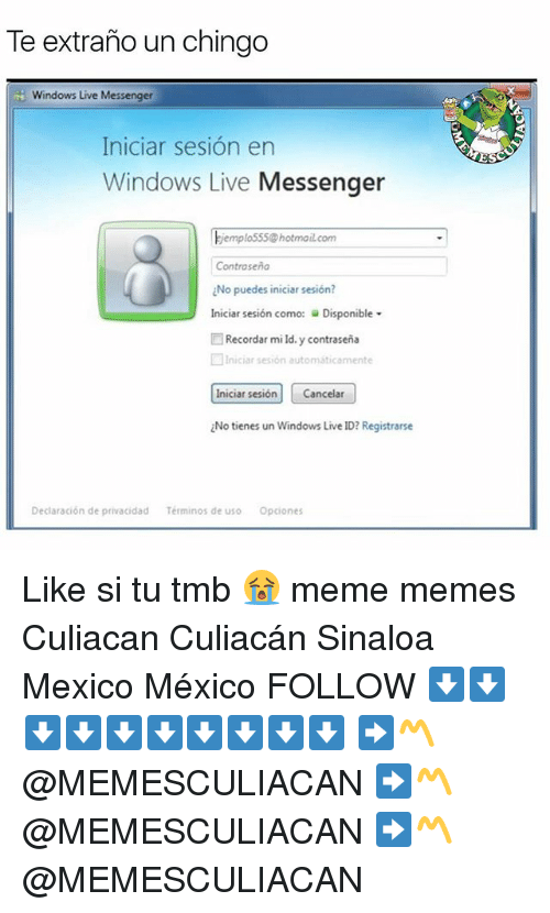 te extrano un chingo windows live messenger iniciar sesion en