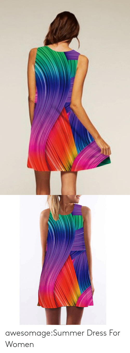 Tumblr, Summer, and Blog: TE N awesomage:Summer Dress For Women