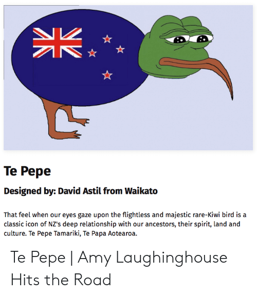 Te Pepe Designed by David Astil From Waikato That Feel When