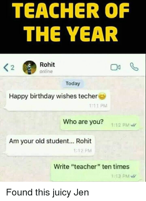 Teacher Of The Year Rohit Orifine 2 Today Happy Birthday Wishes