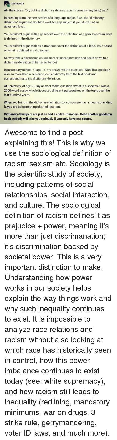 power oppression and society sociology essay The swinish multitude essays, articles and comments traversing politics, economics, sociology, psychology, power, oppression and ethics oh, and culture and the arts.