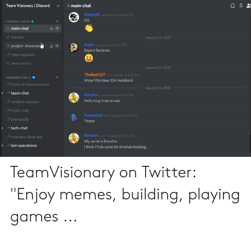 Team Visionary | Discord #Main -Chat iDankolit Last Saturday