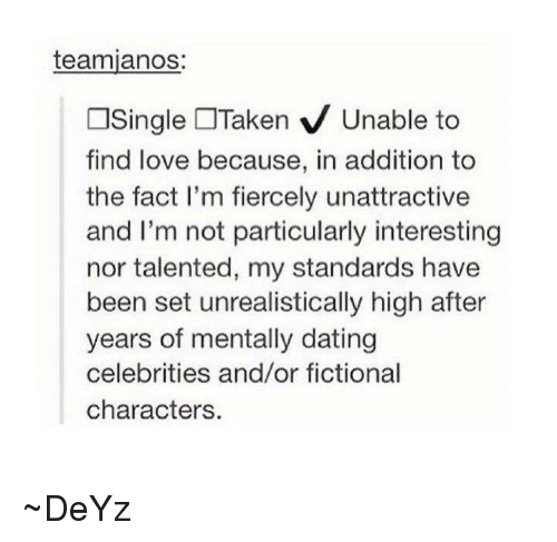 Setting standards for dating