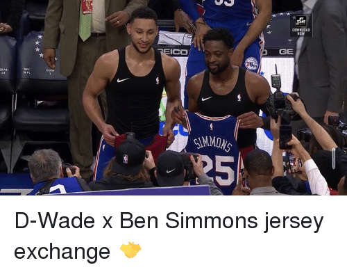 90664c1de0d Jersey, Exchange, and Now: TEANS DGWNLOAD NOW EICO GE NMONS D-Wade. D-Wade x  Ben Simmons ...