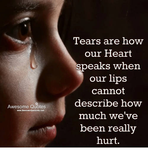 Tears Are How Our Heart Speaks When Our Lips Cannot Describe How